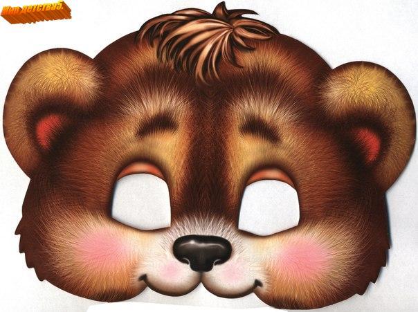 Как сделать маску медведя из бумаги на голову