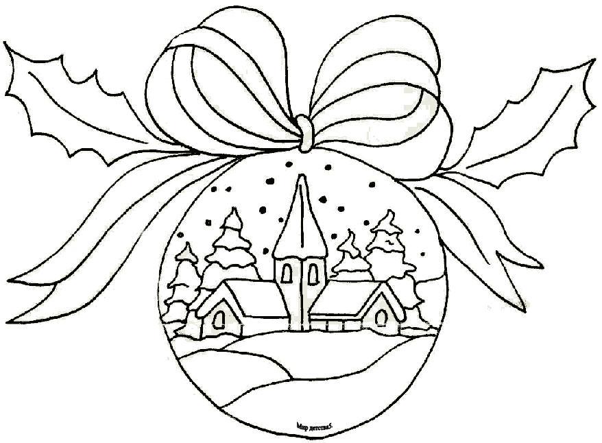Рисунок на елочной игрушке своими руками