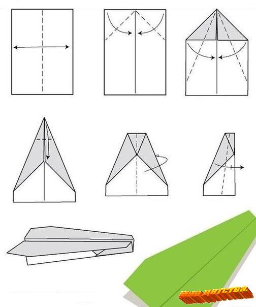Как сделать ребенку самолет из бумаги