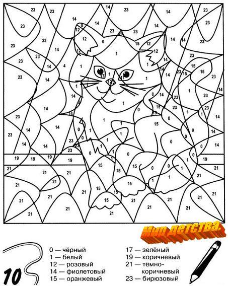 Как раскрашивать раскраску по номерам