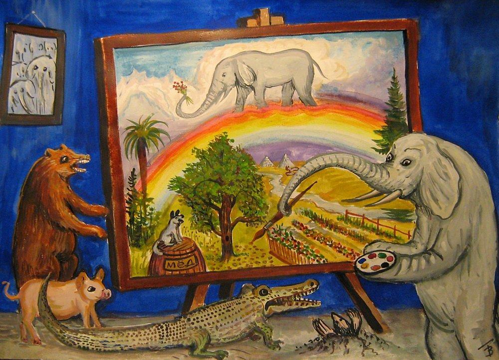 Слон-живописец