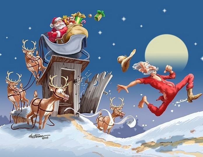 Загадки про Деда Мороза