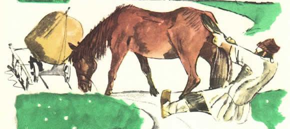 Мужик и лошадь