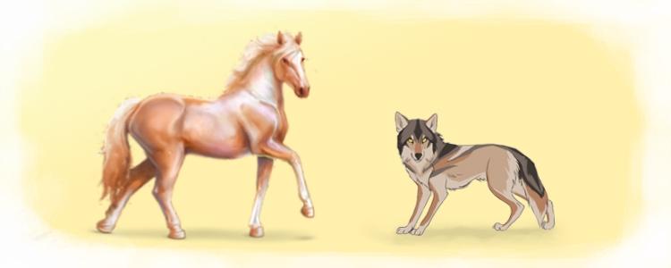 Волк и Кобыла