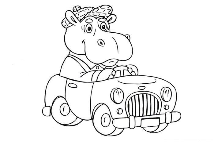 Раскраски машины для детей 3 4 лет - 5