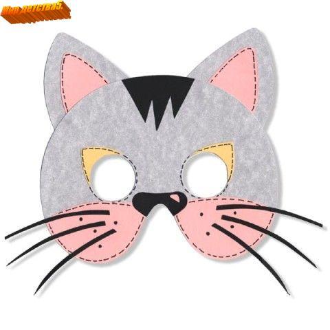 Как сделать маску кошки из картона своими руками