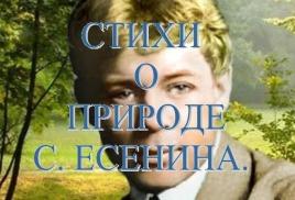 Стихи о природе С. Есенина.