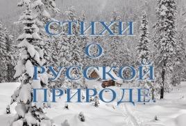Стихи о Русской природе.